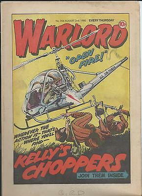 Warlord Comic number 306 , Aug 2nd 1980