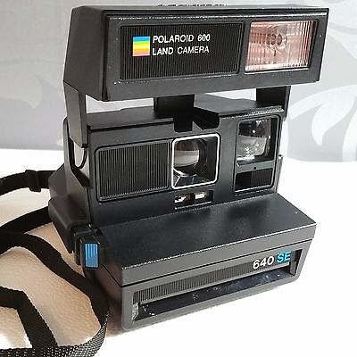 POLAROID 640 SE Special Edition Blue button. GWO.  Great for Impossible Project