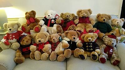 Collection of 13 Harrods Teddy Bears