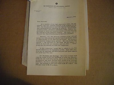Vintage C&O Railroad Signed Walter J. Tuohy President on C&O Outlook
