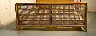 French Gold and Bergère Double Bed Flat woven Cane Free delivery