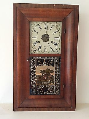 Antique American Wall Clock New Haven Clock Company Mid 19th Century