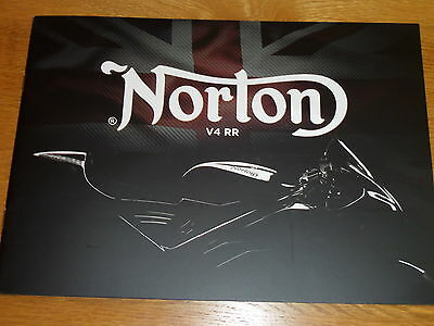 Norton V4RR Motorcycle Sales Brochures 2017-1 - Extremely Rare