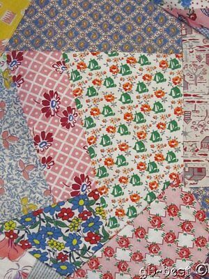 Feedsack Fun! c 30s Crazy Vintage Quilt Top NOVELTIES