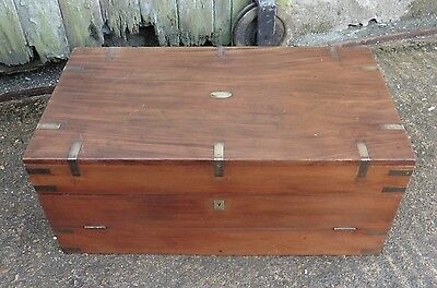 A 19th Century Camphor Wood Campaign Chest, Cutlery Canteen