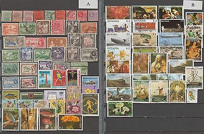 Guyana, nice collection of stamps all different with many Colonial Stamps