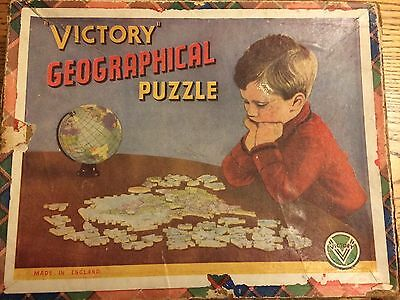 Victory Geographical wood jigsaw puzzle - The World