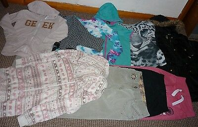 Bundle Girls Clothes age 10-11yrs Free Coat  Tops  Hoodie  Onesy  Joggers  Next