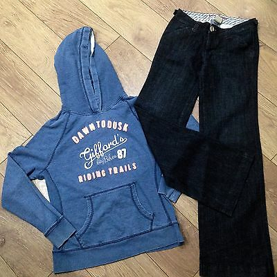 Womens  Kick Flare Jeans & Hoody Size 12