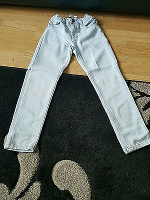 girls pale blue skinny jeans age 6-7 years from primark