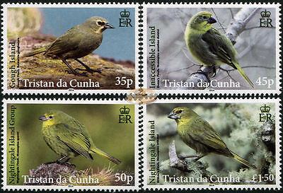 Tristan Da Cunha. 2014. Tristan's Endemic Finches (MNH OG) set of 4 stamps