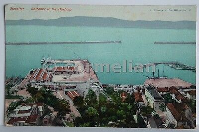 PC Gibraltar, Entrance to the Harbour. Postmarked 1909. VG+