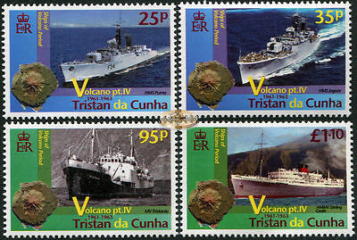 Tristan DaCunha. 2013. Ships of the Volcano Period (MNH OG) set of 4 stamps