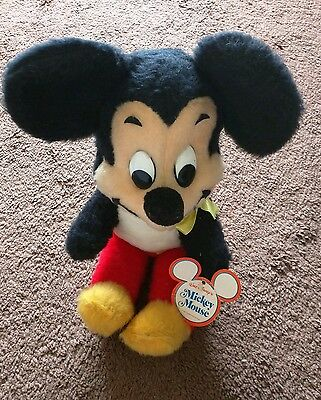 vintage mickey mouse plush, with tags, authentic