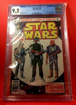 Marvel-1980-STAR WARS #42-CGC  9.2-White Pages-1st Appear. BOBA FETT