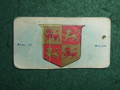 Series 1 Coat of Arms of Wales Will's Cigarette Card