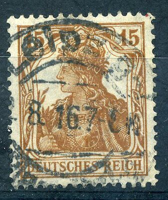 Germany 1920 15pf yellow brown stamp fine used