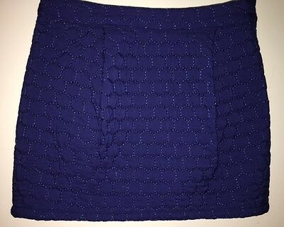 Girls Blue Quilted Skirt Size 6-7 years from Autograph M&S