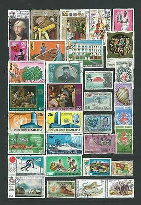 Togo : Collection.. Album Page With Different Used Stamps