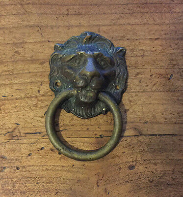 Lion Head Door Knocker Vintage Antique