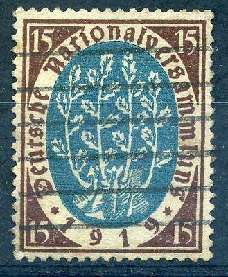 Germany 1919 15pf national assembly stamp sound used