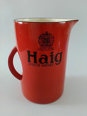 Haig Scotch Whisky Red Water Jug man cave