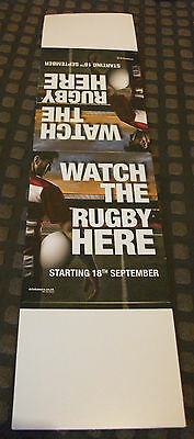 9 Brand New Rugby Table Tent Cards