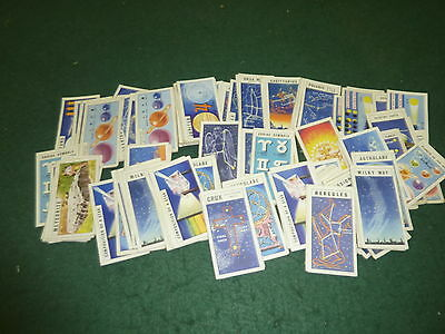 Job lot of 134 Loose Brooke Bond Out in Space Tea Cards