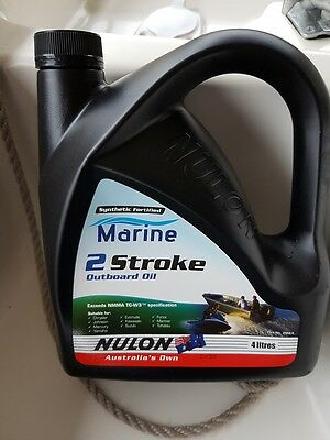 NULON Marine Outboard 2 Stroke Oil NEVER OPENED - 4 x 4Litres