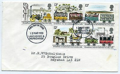 GB 1980 Liverpool and Manchester FDC