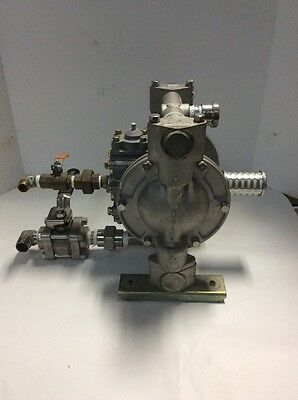 Yamada NDP TOBST 851523 Diaphragm Pump with Swagelock + Parker Flow Control Leve