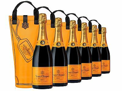 Veuve Clicquot Yellow Label Brut NV Carry Bag 6 PACK