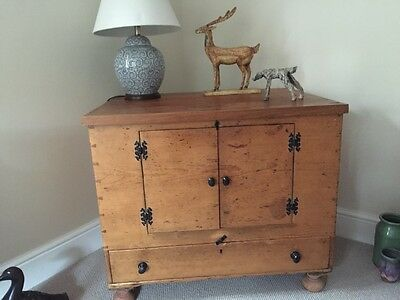 Antique pine TV cabinet