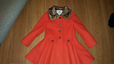 Girls Myleene Klass orange coat age 4/5