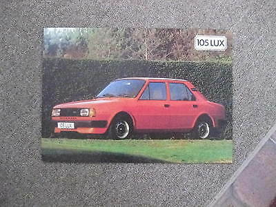 Skoda 105Lux 84 Sales Brochure/leaflet 2Sided Of Interest To A Collector Bargain