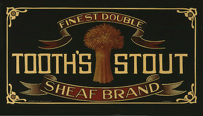 Tooth's Stout Sheaf Brand mirror photoposter 325x570mm beer bar home