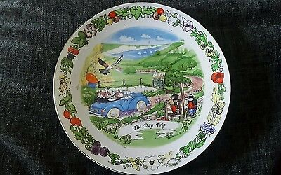 Regency fine arts plate.The Day Trip, Tales Of Honeysuckle Hill.Story on back