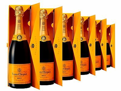 Veuve Clicquot Yellow Label Brut NV Envelope Box 6 PACK