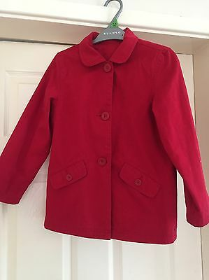 Girls Age 7-8 Red Coat From Mothercare