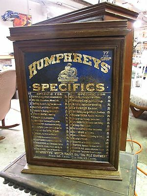 Antique    Humphrey's Specifics  Country Store  Cabinet  C1920's - 30's