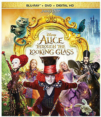 Alice Through The Looking Glass - 2 DISC SET (2016, Blu-ray NEW)