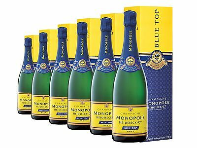 Heidsieck & Co Monopole Blue Top Brut NV Gift Boxed Champagne 6 PACK