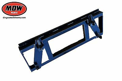 Skid Steer 3 Point Linkage Attachment Plate  - Standard Euro Hitch