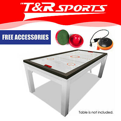 New Arrival 2018 Black 7FT Air Hockey Table - Free Ping Pong Top & Leg Leveller