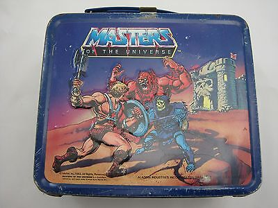 He-Man Masters Of The Universe Metal Lunchbox/thermos 1984 Aladdin Vintage