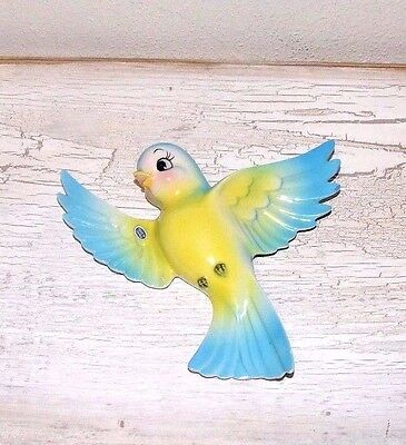 Bluebird Vintage Wall Hanging Plaque With Japan Sticker....darling!!