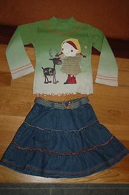 PALOMINO  C&A girl's skirt and long sleeved top set size 3 - 4 years 104