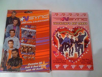 Nsync 30 FOIL Valentine TIMBERLAKE Winterland 2 different sets SEALED 2001