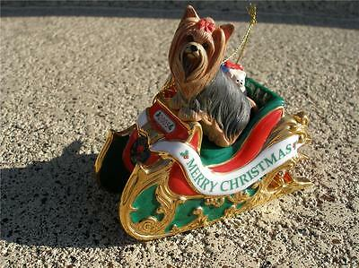 RARE RETIRED 1ST ANNUAL Danbury Mint Yorkshire Terrier Yorkie Yorky Ornament