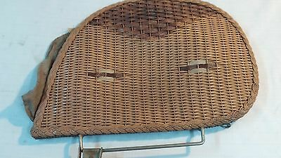 Vintage Thayer Wicker Baby Buggy / Carriage Part Side